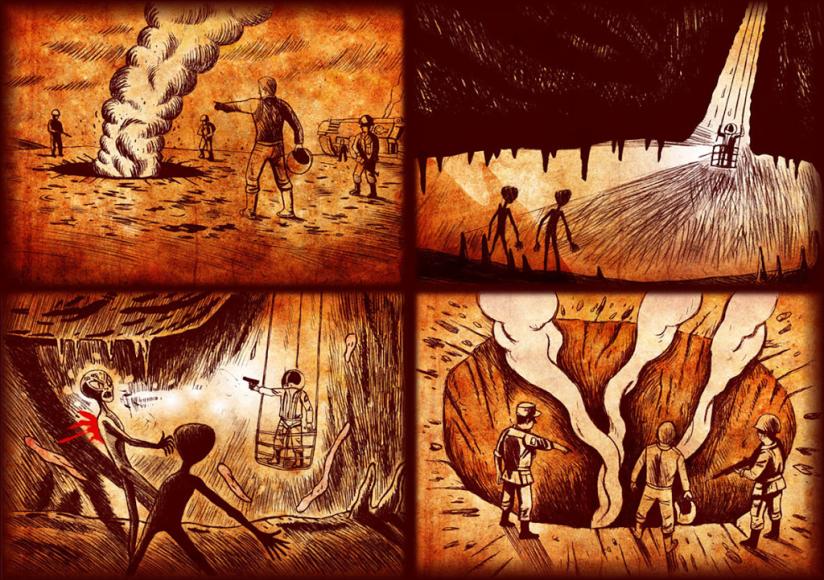underground-alien-battle