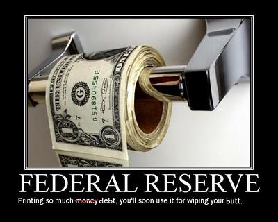 Federal reserve printing so much money debt you'll soon use it for wiping your butt